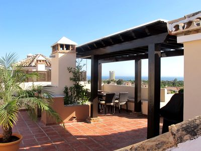 Photo for ELVIRIA - LUXURY PENTHOUSE APARTMENT, 4 BED, 3 BATH, STUNNING VIEWS, WITH POOL