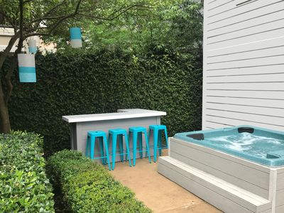 Photo for Midtown 3/3 Townhouse in the Heart of it All - Patio With Bar & Hot Tub!