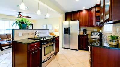 Guests LOVE our gourmet kitchen with granite counters & island