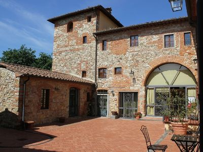 "Photo for Two rooms x 5 ""Farm CASALBOSCO"" an ancient medieval village in verd"