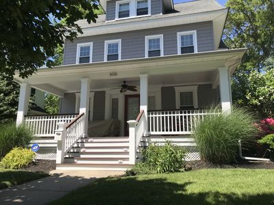 Photo for 4 bed, park-side oasis-short walk to beach and bike ride to trendy Asbury Park