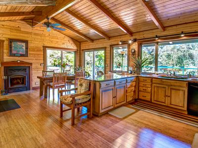 Photo for Private,Luxury, Hot Tub ,Sauna fireplace, walking trails