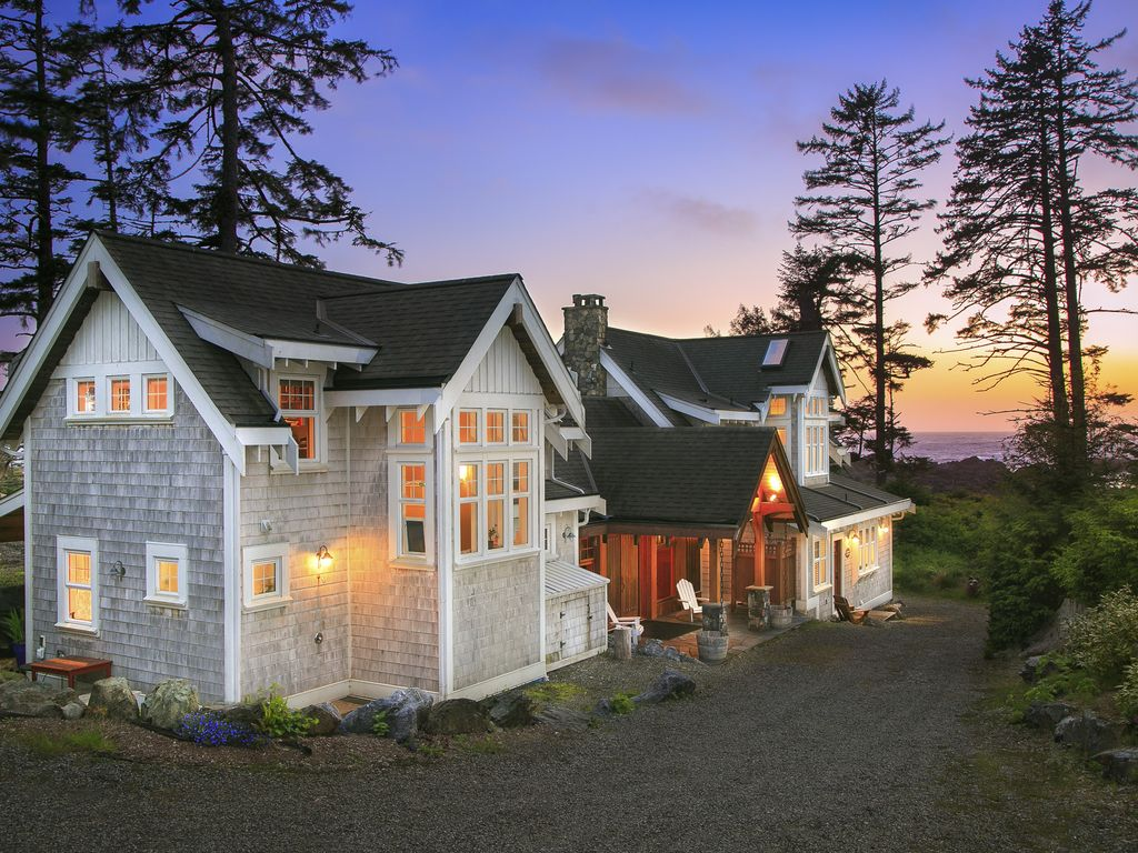 oceanfront property black rock beach house ucluelet vancouver