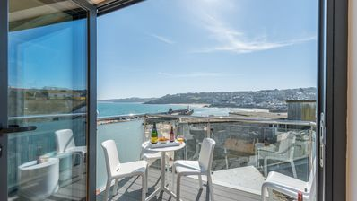 Photo for Sea Fever spectacular sea views, private sunny balcony, Free WiFi