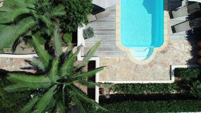 Photo for VILLA 3 MINUTES WALK FROM CALA ROSSA BEACH - HEATED POOL - 3 BEDROOMS