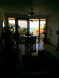 Looking onto patio and ocean