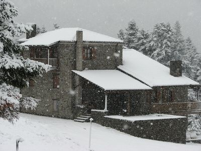 Photo for Splendid mountain view,private,1300 m altitude, into deep fir forest and river