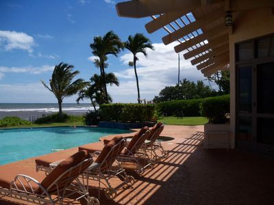 One of a kind private Luxury beachfront Estate with oceanfront pool & jacuzz