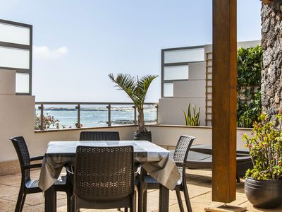 Photo for Luxury beachfront apartment with unique views over the lagoons of Cotillo