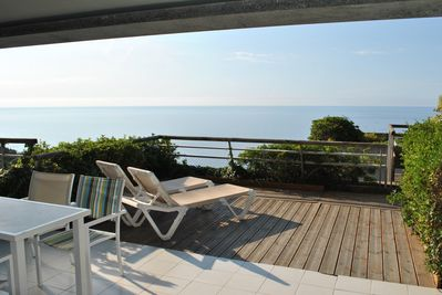 Great large terrace with amazing sea view