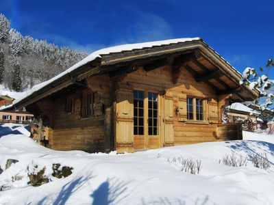 Photo for Very nice small chalet, with a cosy interior in a very quiet area.