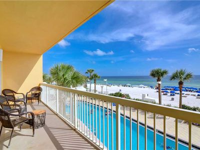 Photo for Spacious, gulf-front condo w/ shared pools, full kitchen, & private balcony