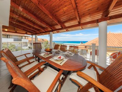 Photo for Beautiful 4 bedroom villa up to 8 people with A/C on the sea front