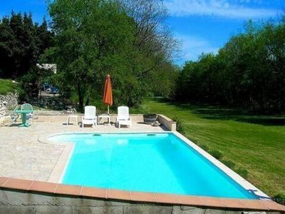 Photo for Traditional 1 bed French gite with private pool and 3 acres of garden