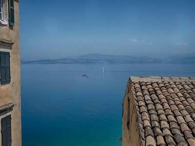 Photo for Serene sea view apartment in Corfu Old Town