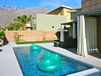 Photo for New mid-century style home with lap pool in lovely Twin Palms neighborhood.