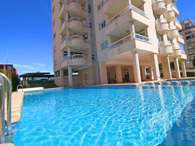 Photo for Cozy Las Garzas apartment with pool, parking and terrace near the beach in Calpe