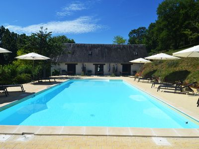 Photo for Cottage for 2 - 45m² - quiet green area - large swimming pool