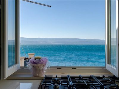 """Photo for Studio """"A 5"""" with balcony few meters from the sea/private beach area"""
