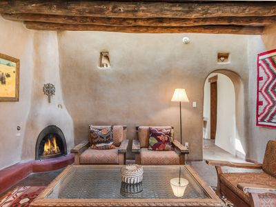 Photo for Hacienda Rose -  Authentic Historic Adobe Estate, Two Blocks to Canyon Road