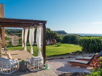 Photo for Lovely cottage with sea views, walking distance from idyllic beaches: Casa Ginep