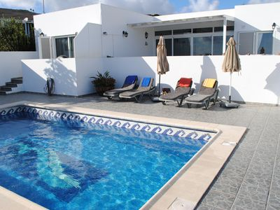 Photo for Casa Canaria, with stunning sea views, Wifi, Pool (8x4m) for 2 to 6 people