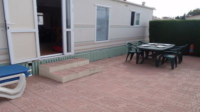 Photo for Oasis Park Albir mobile home with shared pool & nearby beach.