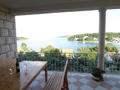 Photo for Sea view with private swimming pool, family friendly
