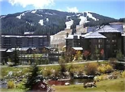 View of Copper Mountain from sun room.