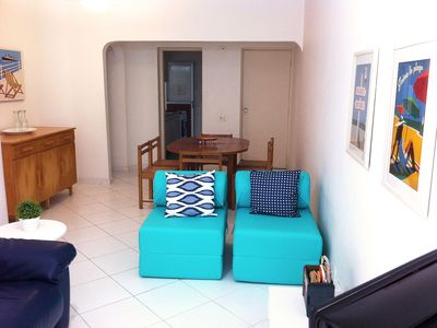 Photo for Pitangueiras, 2 Bedrooms, 6 people, 1 block from the beach, 2 parking spaces