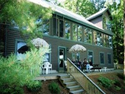 60' Glassed/Screened Porch Overlooking Patio and Lake