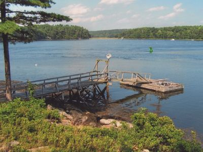 Photo for Waterfront Cottage with Panoramic Views, Deep Water Dock