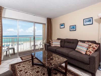 Photo for 4th Floor Open, Airy Condo w/ Gulf Views, Close To Dining, and More!