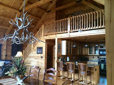 Photo for Breath-taking views at this Lux Log Home, A True Paradise in the Rockies!