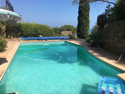 Photo for Stunning villa with sea views, pool and 300 metres to secluded beach