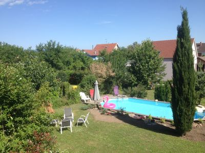 Photo for Fully equipped holiday cottage, swimming pool, terrace, quiet location near the center