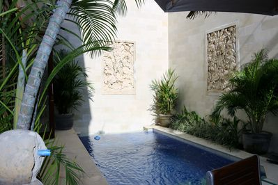 Private plunge pool in our tropical oasis