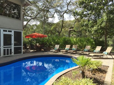 Photo for Lovely 5 bedroom home, pool & spa on lagoon, FREE KAYAK!  No Cleaning Fee