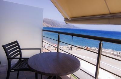 Photo for Sea Views at Gonis Apartment in Paleochora. 20m to the beach. Balcony sea views.
