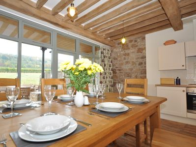 Dining area with views of the garden