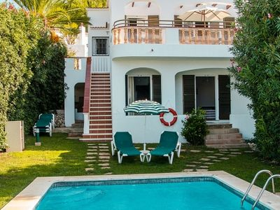 Photo for Lovely villa close to the beach with pool and sea views in a private residential complex