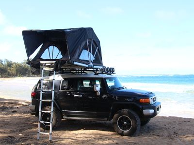 "Photo for Toyota FJ Cruiser with a Roof Top Tent ""FJAMMER"""