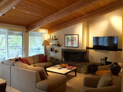Photo for Views of Aspen Mountain: Great Light, Hot tubs, Gas Fireplace, Recent Refresh!