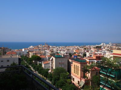 Photo for SITGES: Terrace with magnificent view and swimming pool