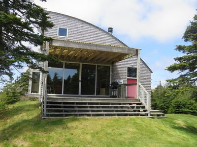 Bay Bluff Cottage, in Blanche, Nova Scotia designed by architect Brian MacKay-Lyons