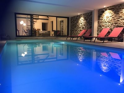 Photo for Longère, indoor pool heated all year, Jacuzzi, 12 people