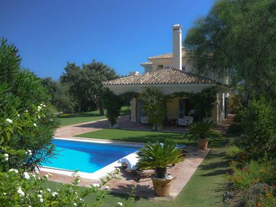Photo for Beautiful front line golf villa with stunning views and pool