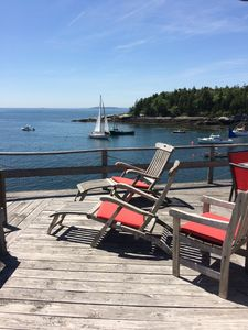 view from the front deck, looking west toward Casco Bay