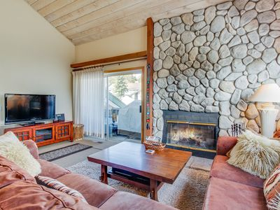 Photo for Rustic retreat near skiing & lakes w/ shared hot tub & wood-burning fireplace!