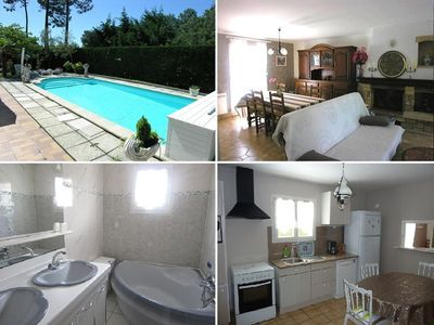 Photo for Independent house, 3 bedrooms, 6 people, private pool in Lacanau ocean